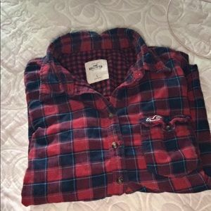 Hollister plaid flannel. Great condition